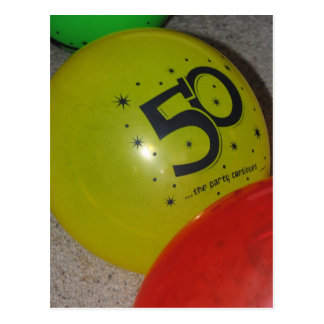 50. Geburtstags-Postkarte Postkarten
