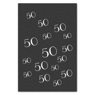 50. Geburtstags-Seidenpapier Schwarzweiss Seidenpapier