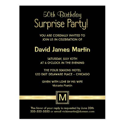 50. Geburtstags-Überraschungs-Party - Postkarten