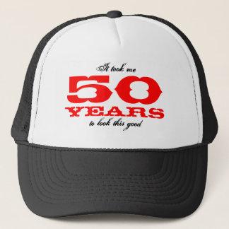 50. Geburtstagsgeschenk-Idee | Hut mit lustigem Truckerkappe