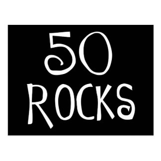 50. Geburtstagsgeschenke, 50 FELSEN Postkarte