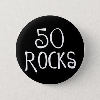 50. Geburtstagsgeschenke, 50 FELSEN Runder Button 5,1 Cm
