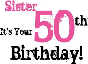 Der 50 Geburtstag Schwester Geschenke Zazzle De