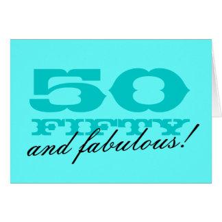 50 geburtstagskarte f r frauen 50 und fabelhaft gru karte. Black Bedroom Furniture Sets. Home Design Ideas
