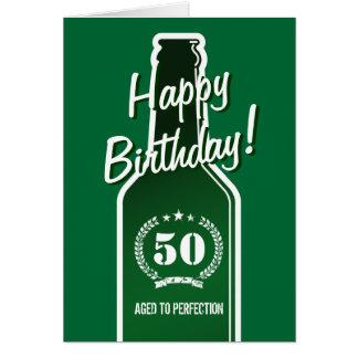 50. Geburtstagskarte für Männer | gealtert zur Karte