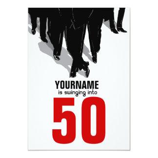 50. Geburtstagswingers-Ratten-Satz-Party 12,7 X 17,8 Cm Einladungskarte