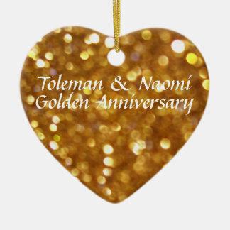 50. Goldene Hochzeits-Jahrestag | personalisiert Keramik Ornament