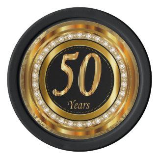 50. Goldene Jahre Jahrestags- Poker Chips Set