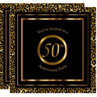 50. Goldene Jahre mit Leopard-Muster Karte