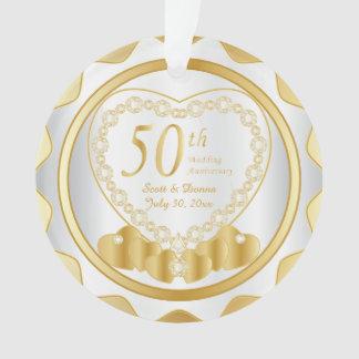 50. Goldener Hochzeitstag 2 Ornament