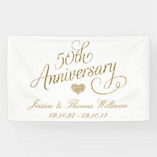 50. Goldener Hochzeitstag Banner