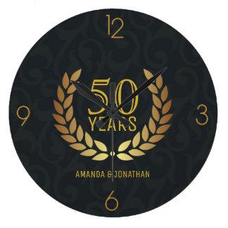 50. Goldener Hochzeitstag Gedenk Große Wanduhr