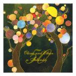 50. Goldener Hochzeitstag laden ein: Liebe-Bäume Individuelle Einladungskarten