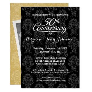50. Hochzeits-Jahrestag mit Foto auf einer Seite 12,7 X 17,8 Cm Einladungskarte
