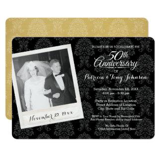50. Hochzeits-Jahrestag mit Vintagem Foto 12,7 X 17,8 Cm Einladungskarte