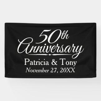 50. Hochzeits-Jahrestag personalisiert Banner