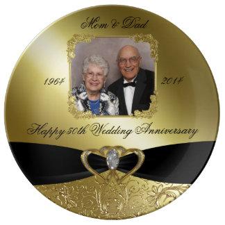 50. Hochzeits-Jahrestags-Foto-Porzellan-Platte Teller Aus Porzellan