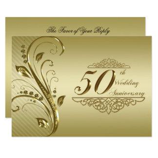 50. Hochzeits-Jahrestags-Foto UAWG Karte 8,9 X 12,7 Cm Einladungskarte