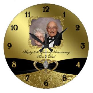 50. Hochzeits-Jahrestags-Foto-Wand-Uhr Wanduhr