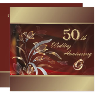 50. Hochzeits-Jahrestags-Party Einladungen