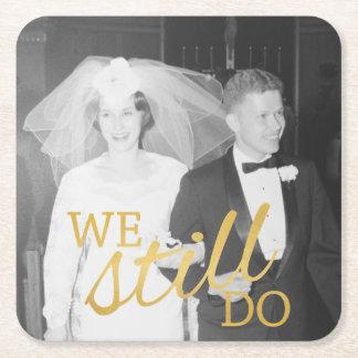 50. Hochzeits-Jahrestags-personalisiertes Foto Rechteckiger Pappuntersetzer