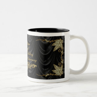 50. Hochzeits-Jahrestags-Tasse Zweifarbige Tasse