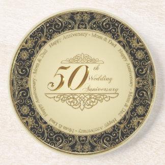 50. Hochzeits-Jahrestags-Untersetzer Sandstein Untersetzer