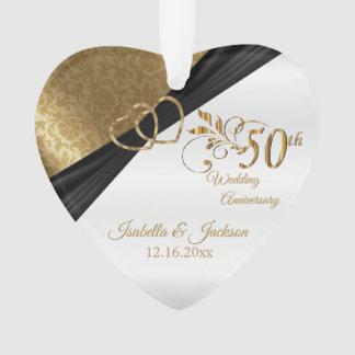 50. Hochzeitstag-Andenken-Entwurf Ornament