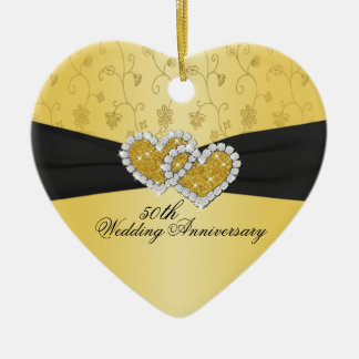50. Hochzeitstag-Andenken-Verzierung Keramik Ornament