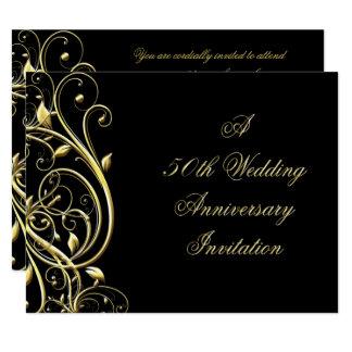 50. Hochzeitstag-Einladung 10,8 X 14 Cm Einladungskarte