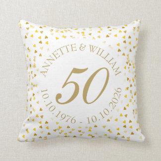 50. Hochzeitstag-goldener HerzenConfetti Kissen