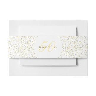 50. Hochzeitstag-GoldstaubConfetti Einladungsbanderole