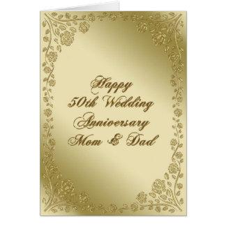 50. Hochzeitstag-Gruß-Karte Karte