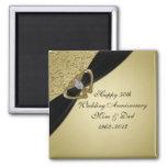 50. Hochzeitstag-Magnet Quadratischer Magnet