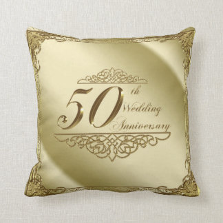 50. Hochzeitstag-Wurfs-Kissen Zierkissen