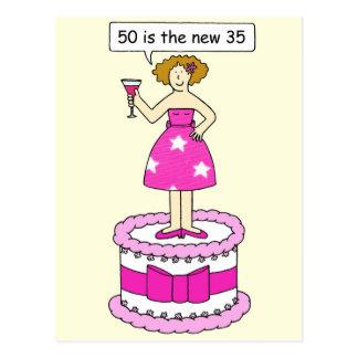 50 ist der weibliche flippige Geburtstag neue 35 Postkarte