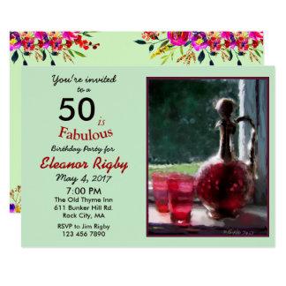 50 ist fabelhafte 50. Geburtstagseinladung 12,7 X 17,8 Cm Einladungskarte