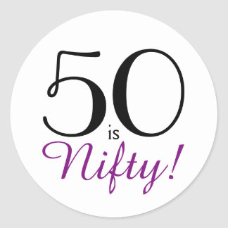 50 ist geschickt! 50. Geburtstags-Party Runder Aufkleber