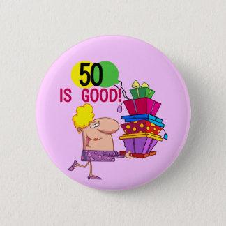 50 ist gute T - Shirts und Geschenke Runder Button 5,7 Cm