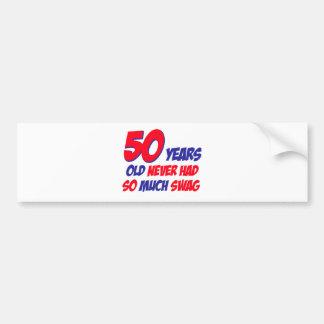 50 Jahre Entwurf Autoaufkleber