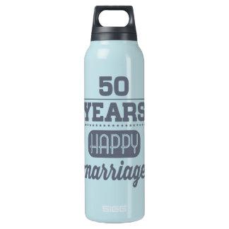 50 Jahre glückliche Heirat- Isolierte Flasche