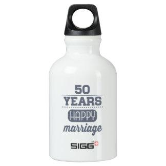 50 Jahre glückliche Heirat- Wasserflasche