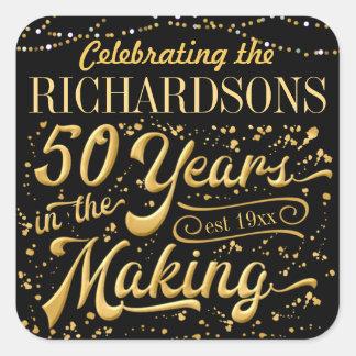 50 Jahre in der Herstellung feiern (50. Anniv) Quadratischer Aufkleber