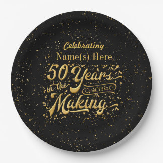 50 Jahre in der Herstellung - Jahrestag oder Pappteller
