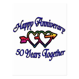 50 Jahre zusammen Postkarte
