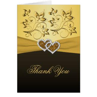 50. Jahrestag verbindende Herzen danken Ihnen zu Grußkarte