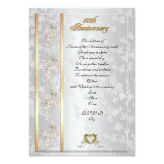 50. Jahrestags-Party Einladung elegant