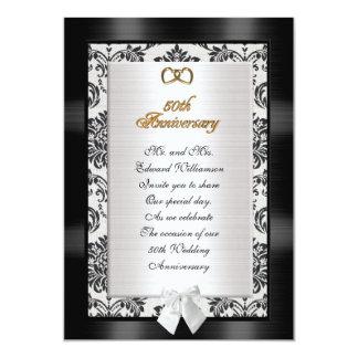 50. Jahrestags-Party Einladungsdamast Karte