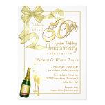 50. Jahrestags-Party - Handel-Einladungen