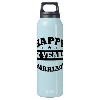 50-jährige glückliche Heirat Isolierte Flasche